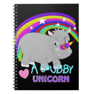 Chubby Unicorn Cute Rainbow Fantasy Fun Notebooks