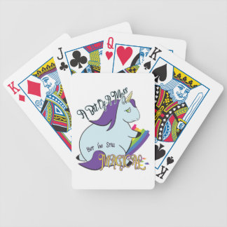 Chubby Unicorn Eating a Rainbow - A Magical Mess Bicycle Playing Cards