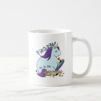 Chubby Unicorn Eating a Rainbow - A Magical Mess Coffee Mug