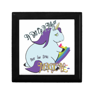 Chubby Unicorn Eating a Rainbow - A Magical Mess Gift Box