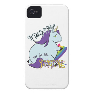 Chubby Unicorn Eating a Rainbow - A Magical Mess iPhone 4 Cover