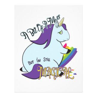 Chubby Unicorn Eating a Rainbow - A Magical Mess Letterhead