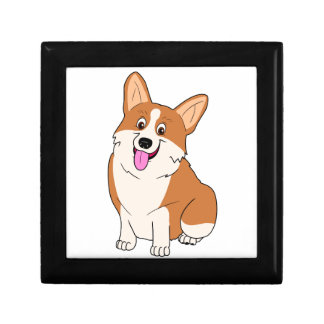 Chubby Welsh Corgi Cartoon Gift Box