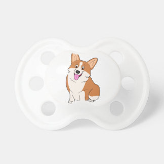 Chubby Welsh Corgi Cartoon Pacifier