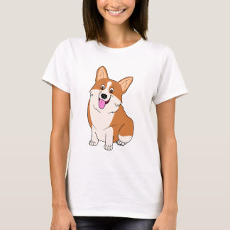 Chubby Welsh Corgi Cartoon T-Shirt
