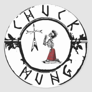 Chuck Mung Classic Round Sticker