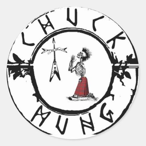 Chuck Mung Round Stickers