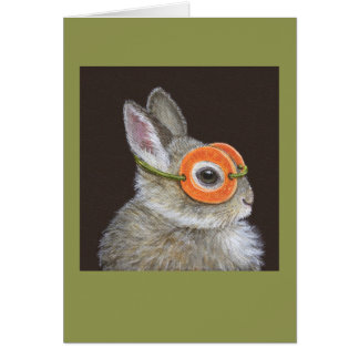 Chuck the bunny card
