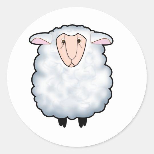 Chuck the Sheep Classic Round Sticker