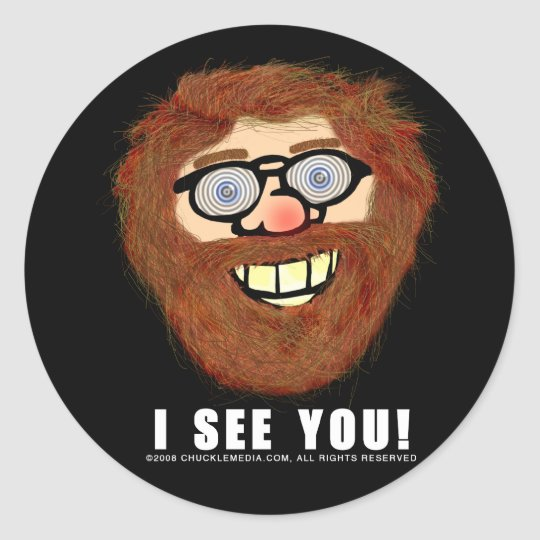 CHUCKLE ROBERT_STICKER CLASSIC ROUND STICKER
