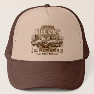 'Chuck's Trucks' Brown and Tan trucker cap