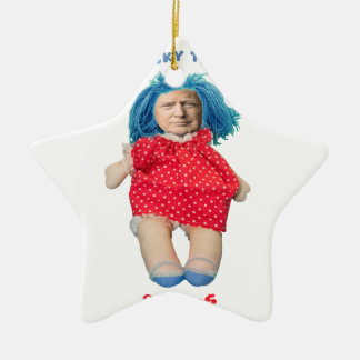 Chucky Donald Trump Doll Ceramic Ornament