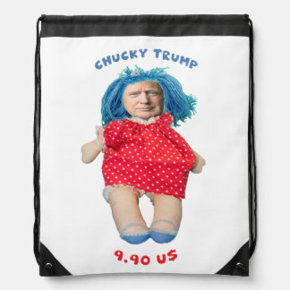 Chucky Donald Trump Doll Drawstring Bag