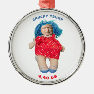 Chucky Donald Trump Doll Metal Ornament