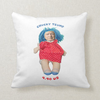 Chucky Donald Trump Doll Throw Pillow