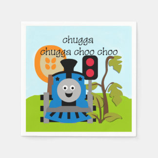 Chugga Choo Train Birthday Paper Napkins
