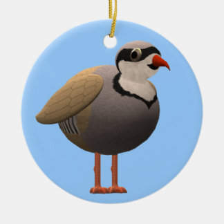 Chukar Partridge Ceramic Ornament