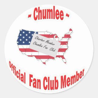 Chumlee-Fan-Club Round Sticker
