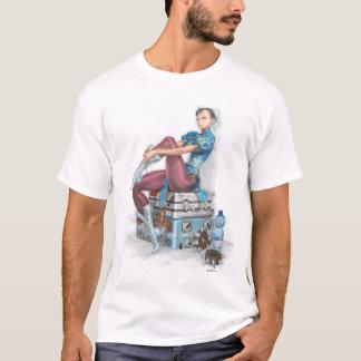 Chun-Li Tying Shoe T-Shirt