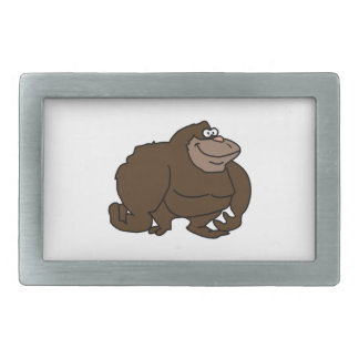 Chunky Brown Ape Gorilla Belt Buckle