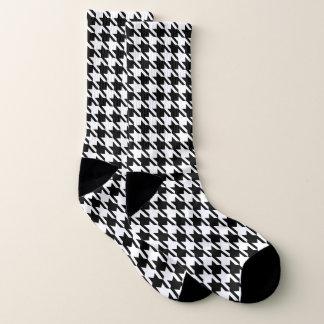 Chunky Houndstooth - Black and White Socks