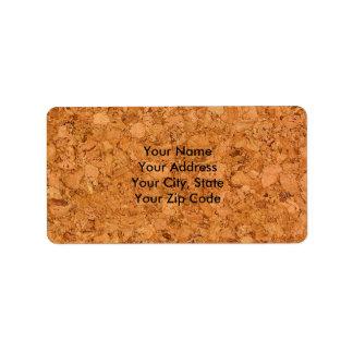 Chunky Natural Cork Wood Grain Look Label