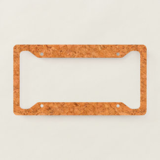 Chunky Natural Cork Wood Grain Look License Plate Frame