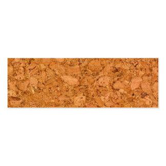 Chunky Natural Cork Wood Grain Look Mini Business Card