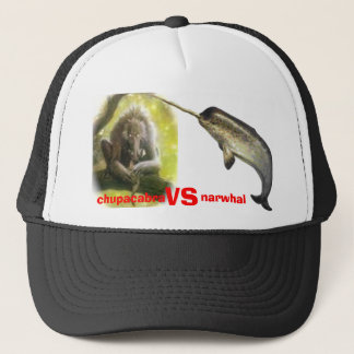 chupacabra vs narwhal trucker hat