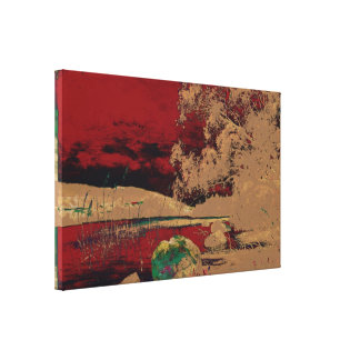 Churberg, Fanny - Shore landscape (Modified) Canvas Print