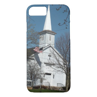 Church and American Flag I Phone Case