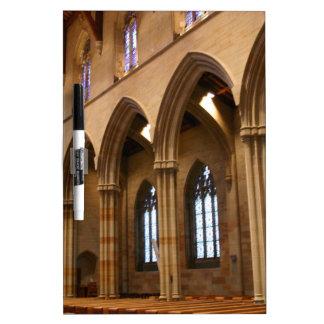 Church Archways Dry Erase White Board