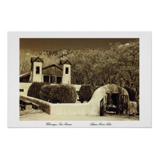Church at Chimayo, New Mexico Poster