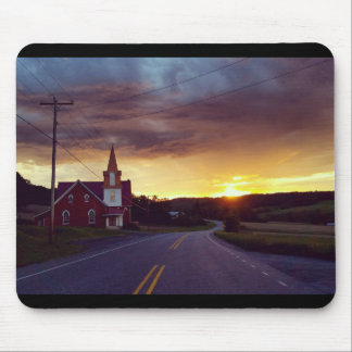 Church at Dusk Mouse Pad
