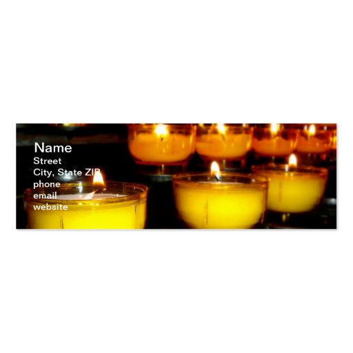 Church Candles Business Cards