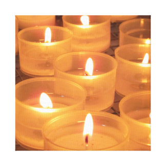 Church Candles Gallery Wrapped Canvas