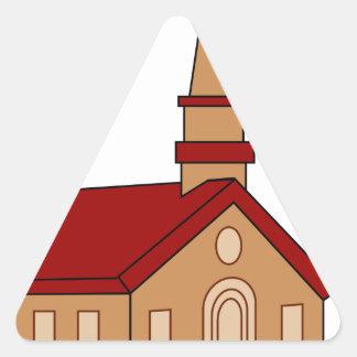 Church Cartoon Triangle Sticker