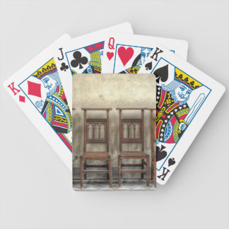 church chairs bicycle playing cards
