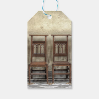 church chairs gift tags