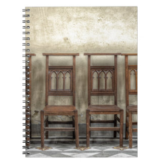 church chairs notebooks