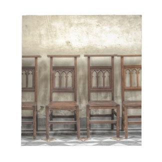 church chairs notepad