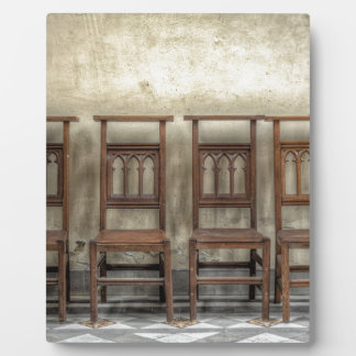 church chairs plaque