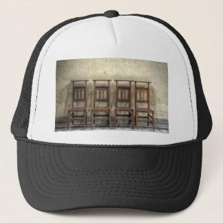 church chairs trucker hat