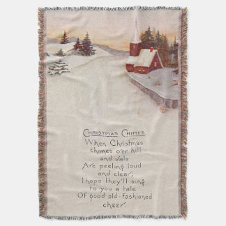 Church Christian Snow Winter Throw