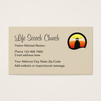 Church Clergy Lighthouse Design Business Card