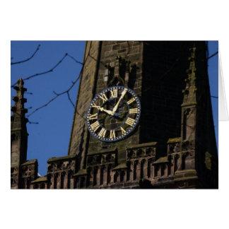Church Clock Card