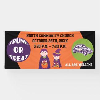 Church Community Trunk or Treat Happy Halloween Banner