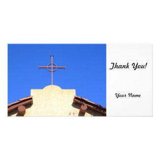 Church Cross Personalized Photo Card
