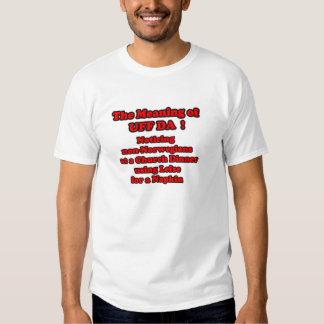 cHURCH DINNER LEFSE UFF DA T-shirt