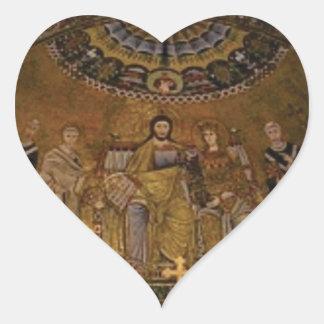 Church dome arch temple heart sticker